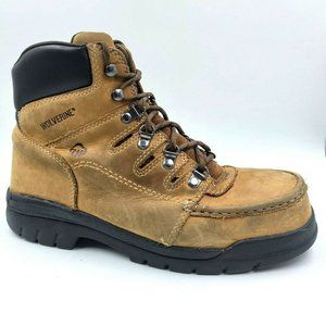 WOLVERINE Potomac Moc Steel-Toe Leather Work Boots